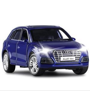 1/32 Новинка Audi Q5 SUV литая модель металлический автомобиль внедорожник звук и светильник Модель игрушки для подарочной коллекции V200