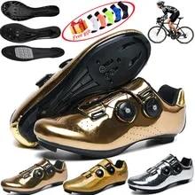 Road-Bike-Shoes Spd-Pedal MTB Racing Women Self-Locking Non-Slip Ultra-Light Flat-Bottomed