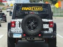 Três ratels TZ-1168 2 pçs falso táxi carro adesivos reflexivo decalque engraçado janela decalques de vinil estilo do carro auto adesivo emblema