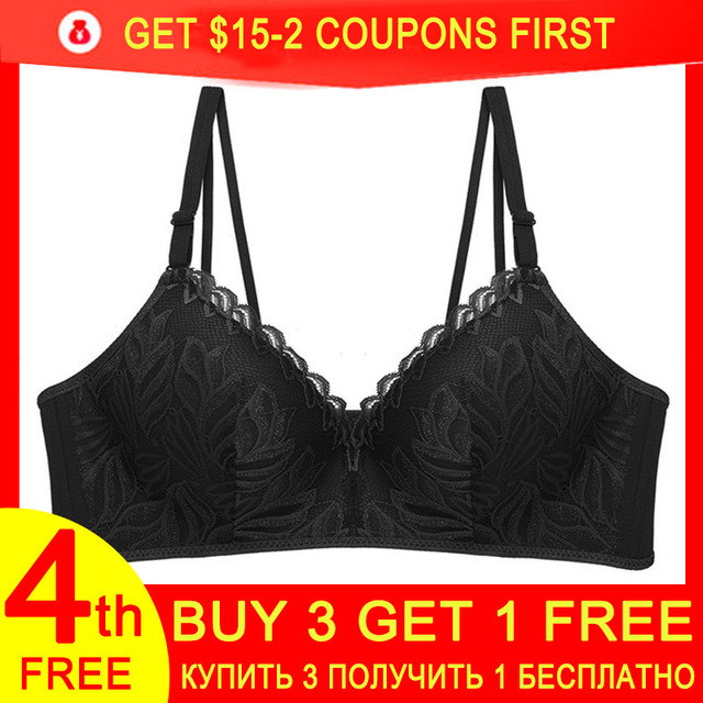 Lace Bra for Women Bralette Push Up Bra Female Lingerie Sexy Brassiere Adjustable Strap Ultra Thin Womens Floral Wire free Bras