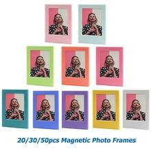 20/30/50 قطعة متنوعة اللون مزيج حر إطار صورة مغناطيسي ل Fujifilm Instax فيلم صغير Mini 9 8 11 7s 70 90 SP 1