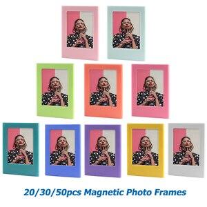 Image 1 - 20/30/50 قطعة متنوعة اللون مزيج حر إطار صورة مغناطيسي ل Fujifilm Instax فيلم صغير Mini 9 8 11 7s 70 90 SP 1