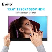 """Eyoyo 15.6 """"אינץ תצוגת IPS 1920x1080 נייד HDMI צג HDR תצוגת שני מסך עבור מחשב נייד מחשב משחקים צג"""
