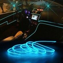Новинка-автомобиля EL провода атмосфера прокладки СИД светильник для набор «сделай сам» гибкий авто Интерьер лампы вечерние украшения свет...
