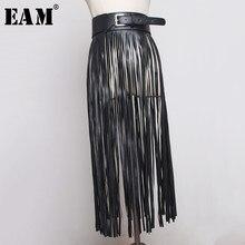 EAM – ceinture en cuir Pu avec pompon Long pour femme, accessoire de décoration, passe-partout, nouvelle collection printemps été 2021, JX375