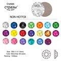 CTPA3bI SS3 1440 шт. красные, зеленые, синие кристаллы AB gold 3D без горячей фиксации Стразы с плоской задней стороной для дизайна ногтей украшение для ...