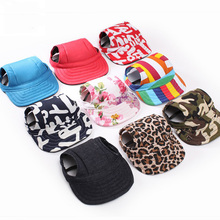 cute Pet fashion solid color Dog Hat Baseball Cap Windproof Travel Sports Sun Hats for Puppy Large Pet Dog Outdoor Accessories