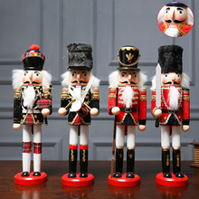Doll Nutcracker Desktop-Ornaments Handcraft Party-Decoration Wooden Vintage Home 1pcs
