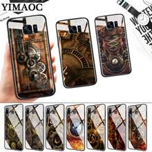 Steampunk Gears Glass Case for Samsung S7 Edge S8 S9 S10 Plus S10E Note 8 9 10 A10 A30 A40 A50 A60 A70