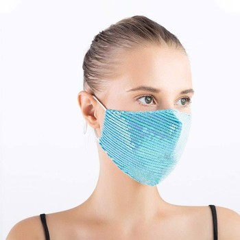 Women Outdoor Mouth Mask Washable Reuse Face Mask Sequins Protection Festival Mask Face Cover Protect Mascarilla Summer маски