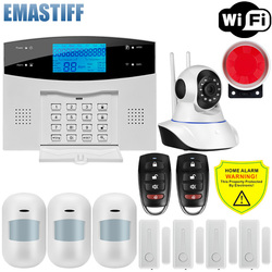 Wifi GSM PSTN Alarm System Wireless & Wired Detektoren Sicherheit Alarm Smart Home Relais Ausgang APP Englisch/Russisch/spanisch