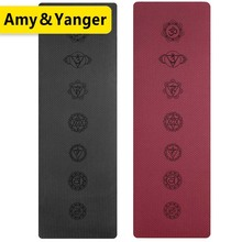 Non-slip TPE Yoga Mats For Fitness Pilates Gym Exercise Sport