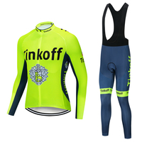 2019 Saxo bank Tinkoff pro team long sleeve cycling jersey Ropa cycling bicycle bike racing clothing MTB sets 19D GEL