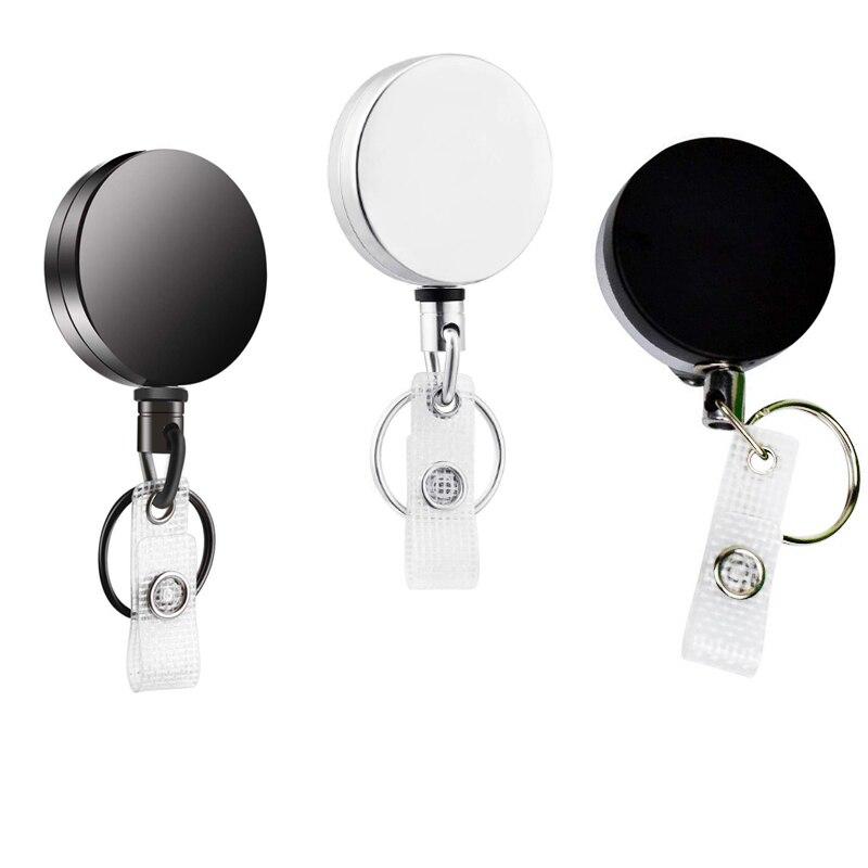 Heavy Duty Retractable Pull Reel Badge Key Chain Belt Clip ID Card Holder 1pc
