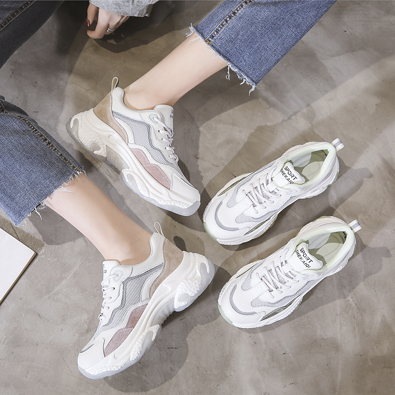 Candy Color Running Shoes Women 2020 Spring New Leather Casual Sports Shoes College Style Single Shoes Women ZZ-324