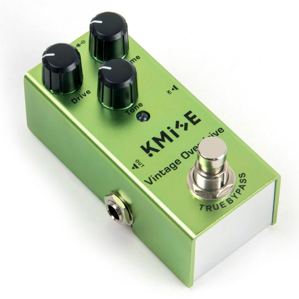 Kmise Guitar Effects Pedal Overdrive Mini Single Vintage Overdrive DC 9V True Bypass For Electric Guitar