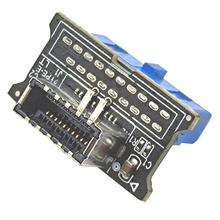 USB 3 0 wewnętrznego 19-Pin płyty głównej do USB 3 1 typu E kluczowym 20-Pin Panel przedni Adapter konwerter tanie tanio CN (pochodzenie) Przedłużacz kabla NONE Dostępny w magazynie USB3 0 19-Pin to USB 3 1