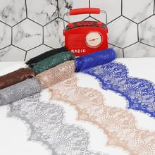 3Yards High Quality 9.5cm 14 colors option Flower Embroidered Lace Fabric Trim Ribbons DIY Sewing Handmade Materials