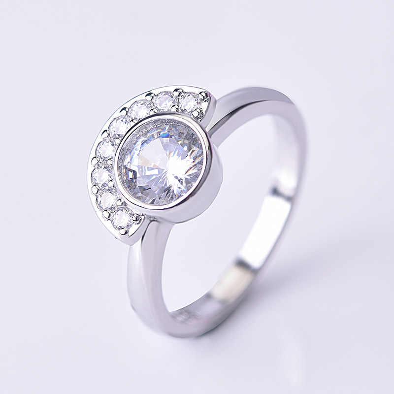 แสตมป์เงิน 925 แหวนเพชรสำหรับสตรีเพชรธรรมชาติอัญมณี Topaz Bizuteria งานแต่งงานเงิน 925 เครื่องประดับเครื่องประดับแหวน