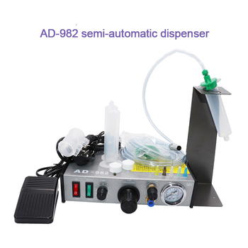 Semi Automatic Dispenser Automatic Glue Injection Precise Glue Machine Silica Gel Manual Controller Efficient Filling Machine цена 2017