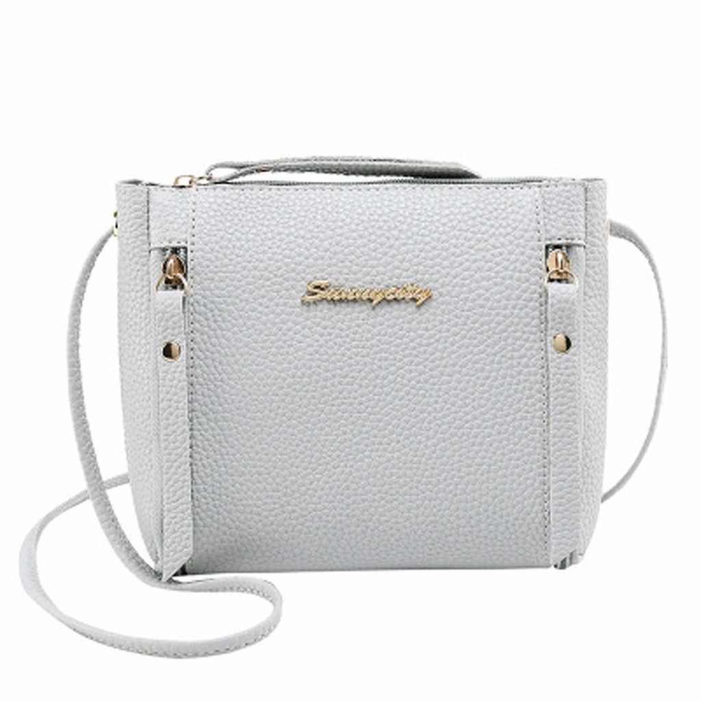PU cuir femmes sacs de messager femmes sacs à main 2019 nouvelle mode décontracté dames épaule sac de messager Simple sac à main bolso mujer
