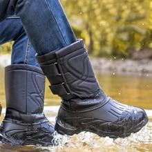 Winter Men Snow Boots Camouflage Platform Boots Men Rain Shoes Super Warm Non-slip Waterproof Men Winter Boots For -40 degrees