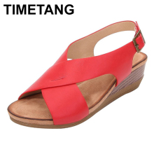 TIMETANGWomen shoes classic elastic band ladies flat sandals