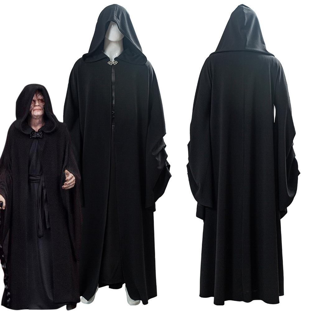 Star Cosplay Wars 9 : The Rise Of Skywalker Darth Sidious Sheev Palpatine Costume Adult Halloween Carnival Costumes Male Female