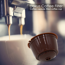 STRAINER-FILTERS Capsule-Cup Refillable Dolce Coffee Stainless-Steel Gusto-Supplies