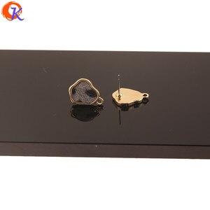 Image 5 - Cordial Design 100Pcs 13*17MM Jewelry Accessories/Hand Made/Irregular Shape/Leopard Print Effect/DIY Making/Earrings Stud