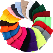 Beanie Figure-Hat Skullies Cotton Bonnet-Cap Winter Warm Solid Hip-Hop Casual for Men