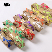 30mm Hemp Ribbon Flower Wrapping Packaging Gift DIY Florist Bouquet Rope For Boxes Decor Materials 2M/roll
