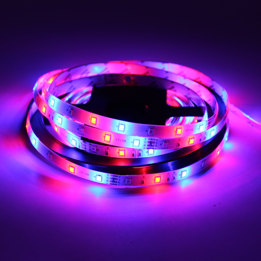 12 V Volt Led Strip Light Tape RGB 2835 Waterproof 1 - 5 M DC 60LED/M 12V RGB Backlight Led Strip Tape Lamp Diode Flexible TV