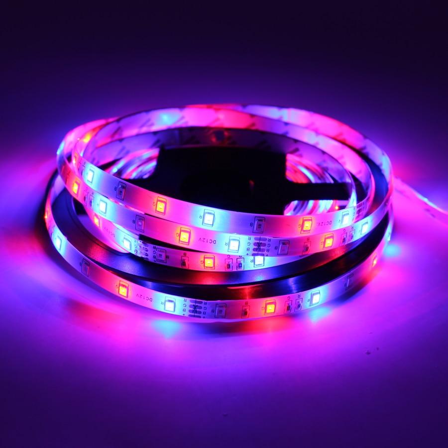 12 V Volt Led Strip Light Tape RGB 2835 Waterproof 1 - 5 M DC 60LED/M 12V RGB Backlight Led Strip Tape Lamp Diode Flexible TV
