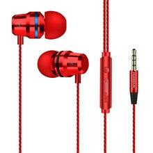 CHAURE אוזניות wired באוזן סטריאו בס עבור טלפון עם מיקרופון מתכת אפרכסת עבור Xiaomi סמסונג מוסיקה ספורט משחקי אוזניות 3.5mm