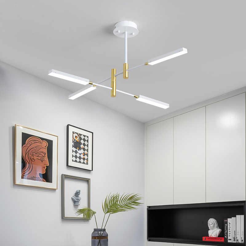 الحديثة الشمال تصميم أسود ثريا من الحديد لغرفة النوم غرفة المعيشة لوفت مدخل قاعة المطبخ الطعام غرفة LED أضواء الديكور