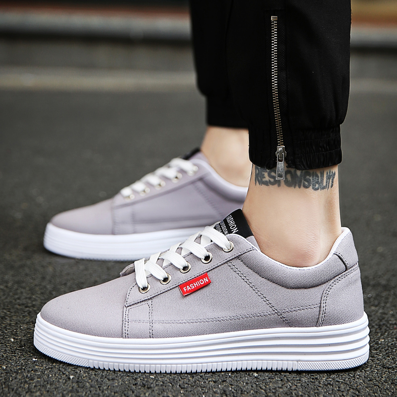 Hidden Heel 6CM Mens Sneakers Blue