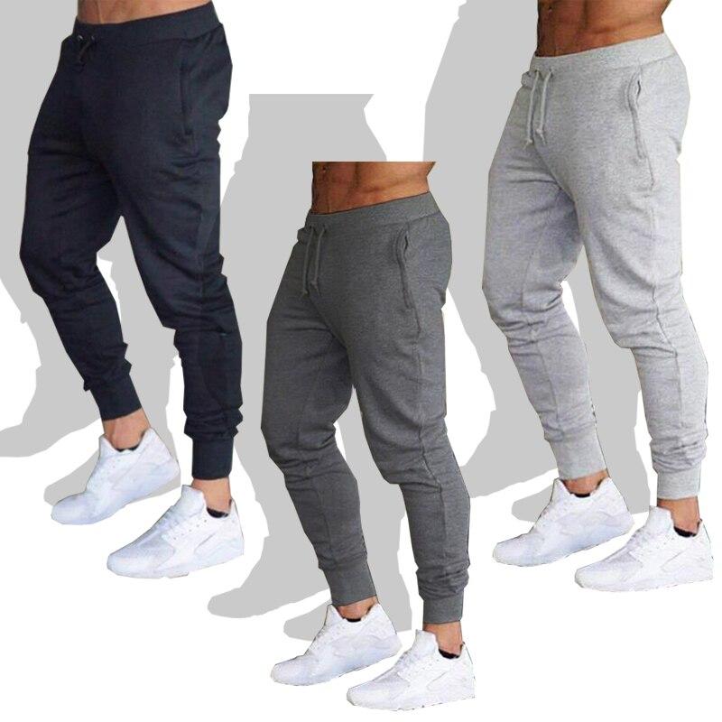 Новые спортивные штаны для бега, мужские спортивные штаны, штаны для бега, Мужские штаны для бега, хлопковые тренировочные штаны, облегающие...