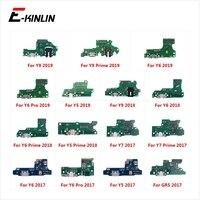 Conector de puerto de carga de piezas Flex Cable con micrófono para HuaWei Y9 Y7 Y6 Pro Y5 primer GR5 2017 de 2018 a 2019