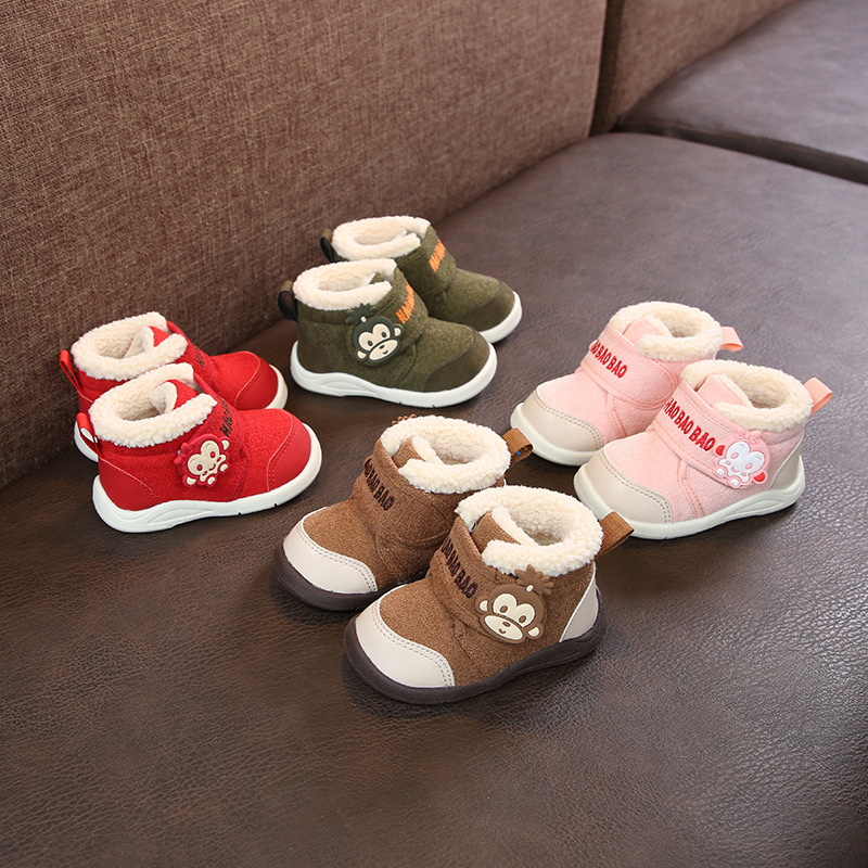 2019 Infant Winter Boots Baby Girl Boys Toddler Boots High Quality Soft Bottom Warm Thicken Plush Kids Child Boots Cotton Shoes