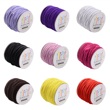 Elastic Cord 1mm 2mm for DIY Jewelry Making accessories,with Nylon Outside and Rubber Inside ,100m/roll;40m/rollF60
