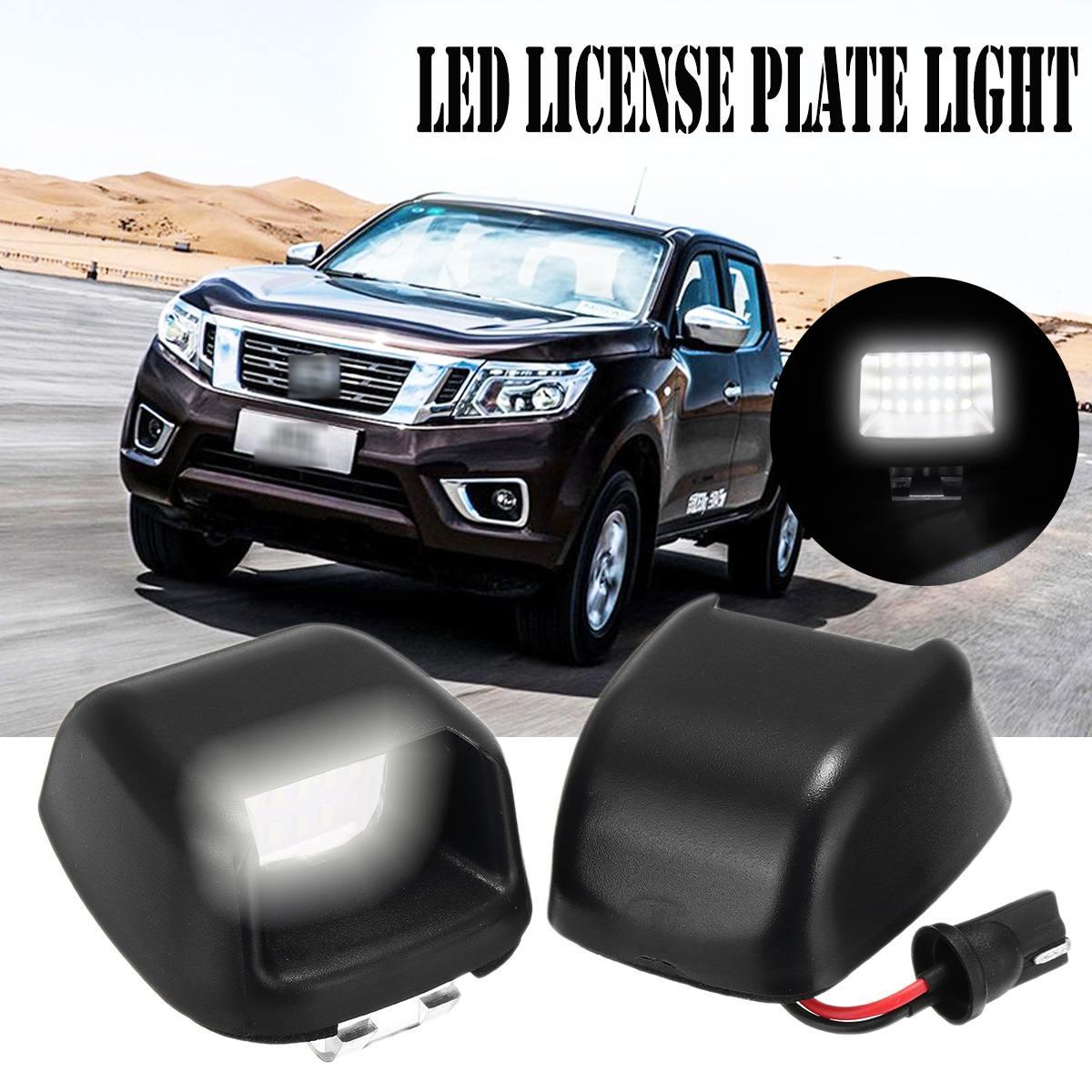 2pcs Error Free Led Number Plate Bulbs White 18 Led License Plate Light Lamp For For Nissan Navara D40 04-18 For Suzuki Equator