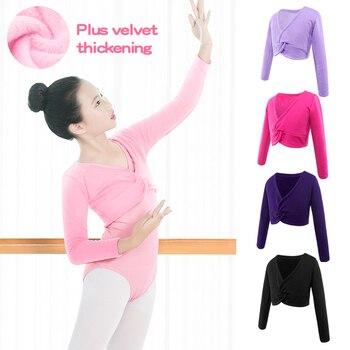 New Autumn Winter Girls Kids Children Ballet Dance Shawl Coat Long Sleeve High Waist Outwear for - discount item  10% OFF Stage & Dance Wear