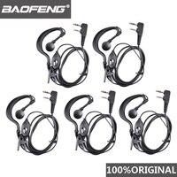 5 pçs baofeng UV 5R fone de ouvido rádio presunto walkie talkie woki toki fone de ouvido ptt b5 b6 Uv 6r f8 + wln Kd c1 k porto fone de ouvido|Acessórios e Peças para Walkie-Talkie| |  -