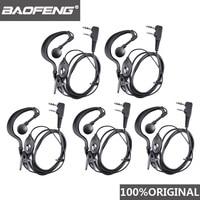 Baofeng-auriculares UV-5R con Radio Ham, 5 uds., Walkie Talkie Woki Toki, PTT B5 B6 Uv-6r F8 + Wln Kd-c1 K