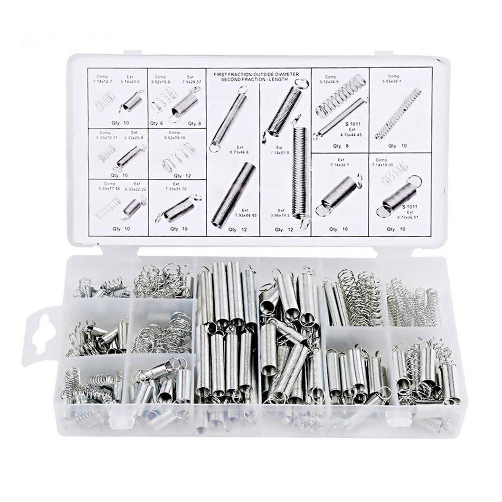200Pcs/box Steel Spring Electrical Hardware Drum Extension Tension Pressure Springs Set Assortment Hardware Kit Assort Sale|Hand Tool Sets| |  - title=