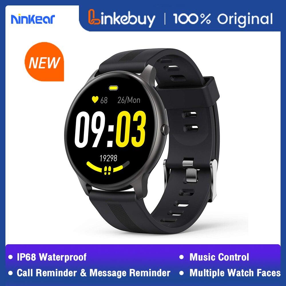Ninkear lw11 ip68 à prova dip68 água relógio inteligente ou esportes das mulheres dos homens rastreador de fitness relógio inteligente monitor de freqüência cardíaca para android ios