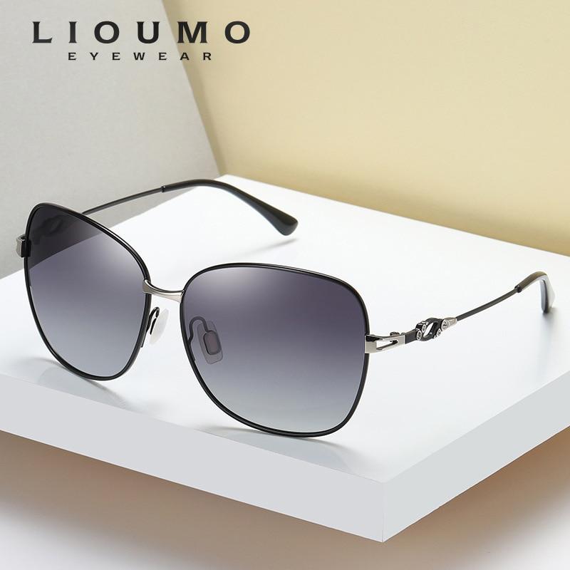 2020 Fashion Design Square Sunglasses Women Polarized Eyewear Female Travel Memory Metal Legs Gradient Lens Gafas De Sol Mujer