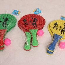 3 цвета пляжный мяч ракетки деревянный набор из 2 весла мяч для взрослых песок командные игры Теннис/Бадминтон/Pingpong ракетки