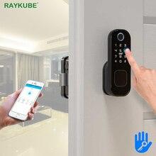 Fechadura eletrônica da porta fingeprint/código/senha/bluetooth tt lock app com gateway wifi bluetooth keyless entrada t03